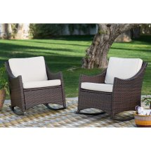 Coral Coast Harrison Club Style Rocking Chairs - Set Of 2