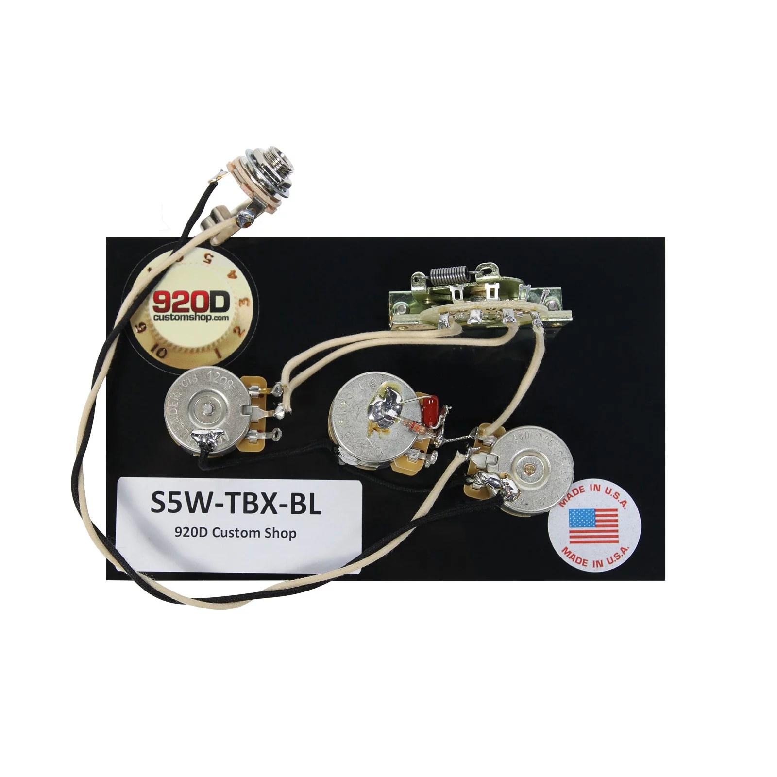 hight resolution of 920d fender strat stratocaster wiring harness tbx and blender pot
