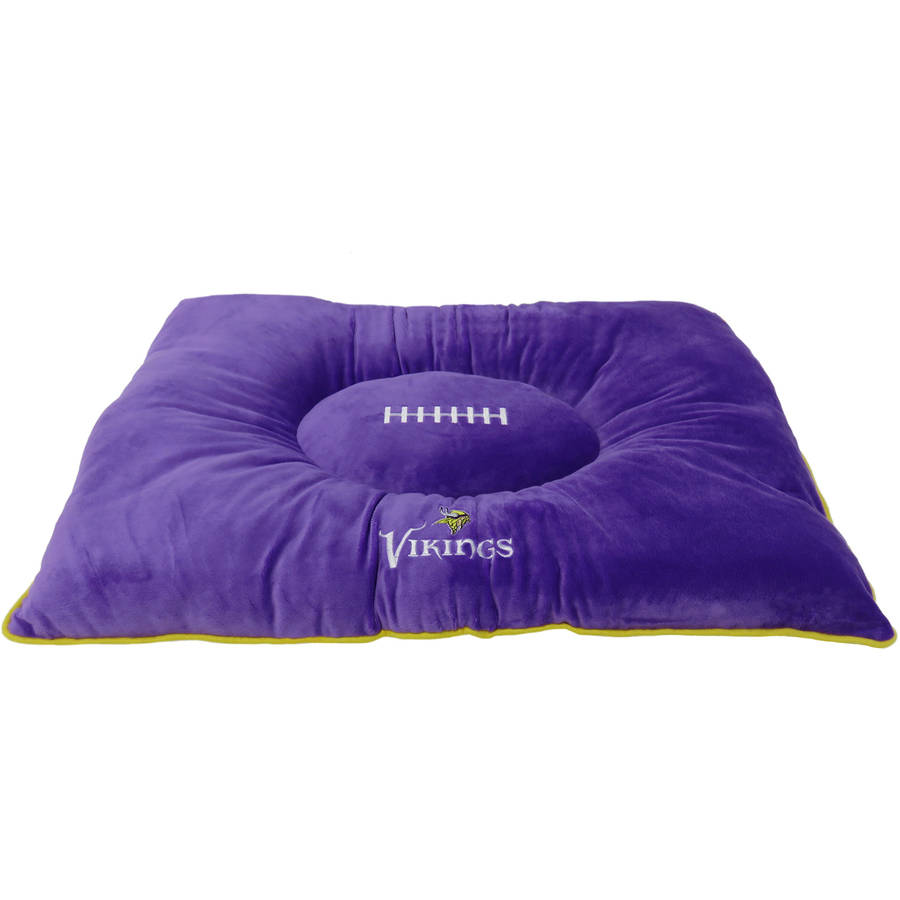 Pets First NFL Minnesota Vikings Pillow Bed Mattress