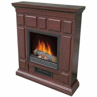 DECOR FLAME Electric Space Heater Fireplace with 32 ...