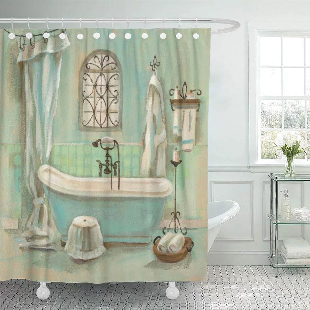 atabie blue bathroom glass bath green bathtub old fashioned tub shower curtain 60x72 inch walmart com