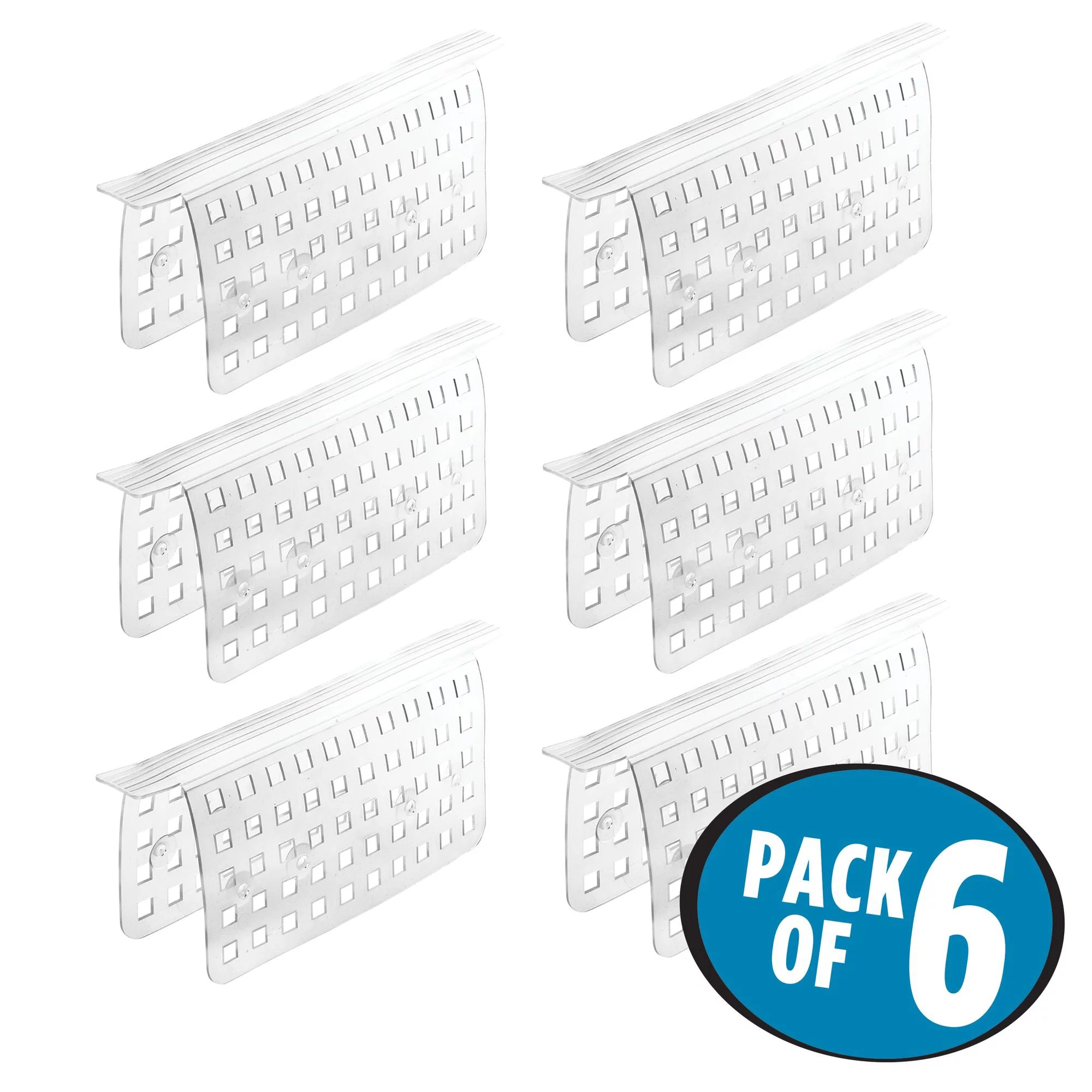 idesign euro bpa free plastic kitchen sink saddle protector clear set of 6