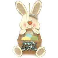 "Easter Wal-mart 17"" Bunny Wall Decor, Bunny With Basket ..."