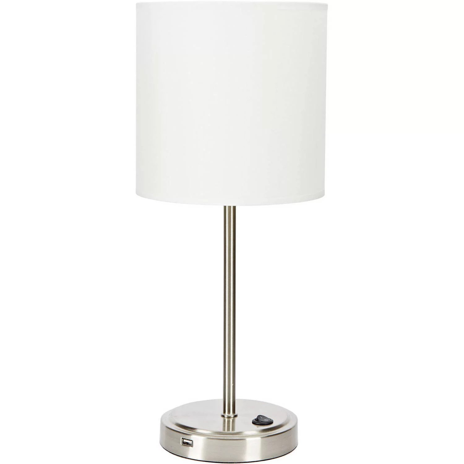 mainstays silver grab and go stick lamp with usb port