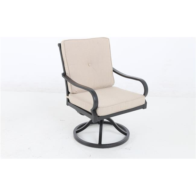 sunvilla laurel swivel patio dining chair in sahara set of 2 units