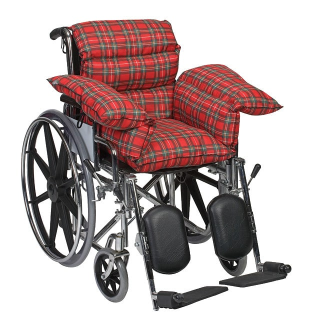 wheelchair cushion stability ball desk chair dmi for pressure sore relief seat comfort pillow seniors and elderly plaid walmart com