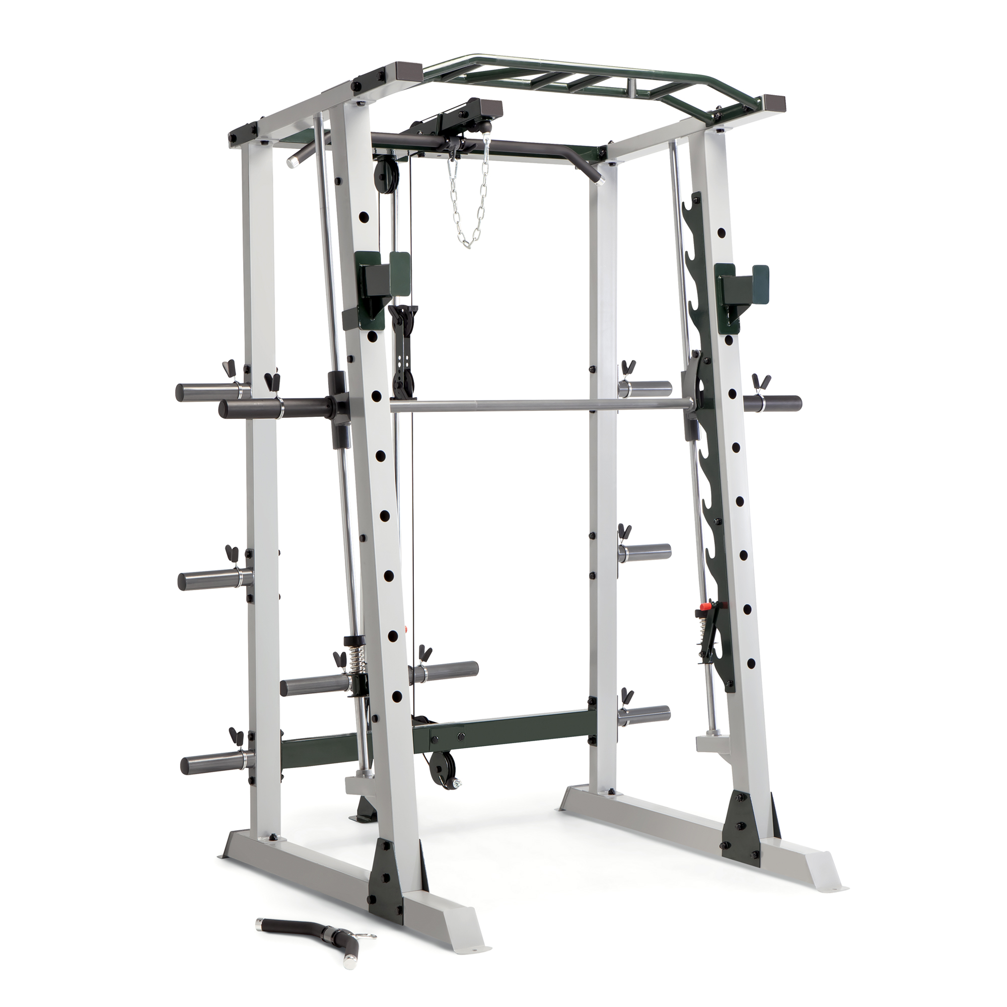 marcy deluxe cage with smith machine olympic rack and cable pulley system with 600lb capacity walmart com