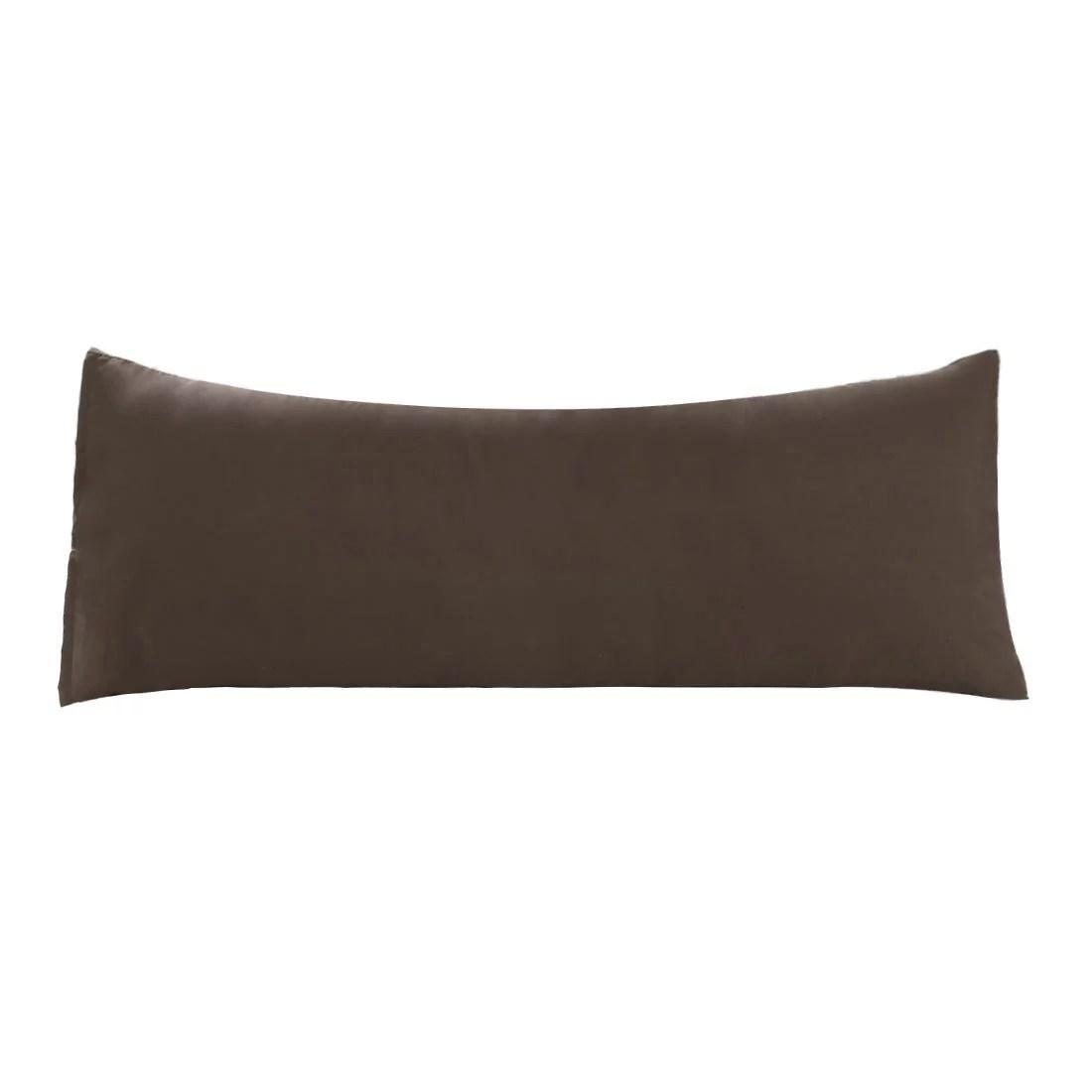 unique bargains microfiber pillowcase long bolster body pillow cover 20 x 48