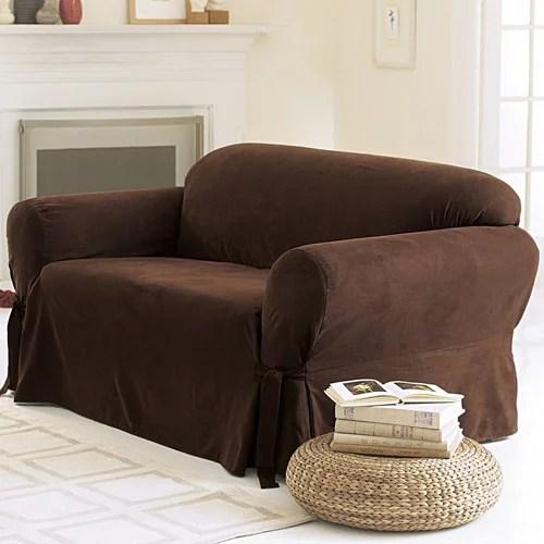 sofa mart sectional small conversation sofas sure fit soft suede cover - walmart.com