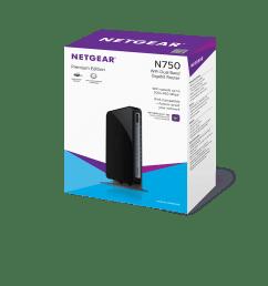 netgear n750 dual band wifi router 4 port gigabit ethernet wndr4300 walmart com [ 1500 x 1125 Pixel ]