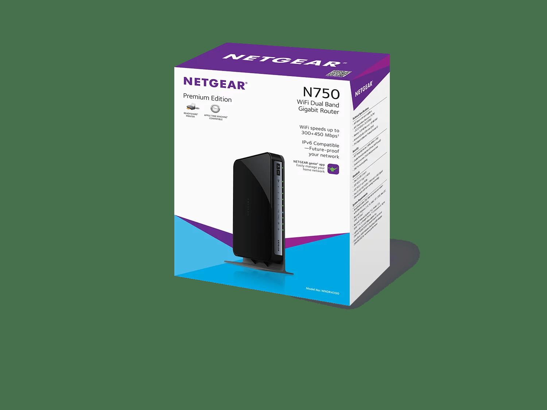 hight resolution of netgear n750 dual band wifi router 4 port gigabit ethernet wndr4300 walmart com