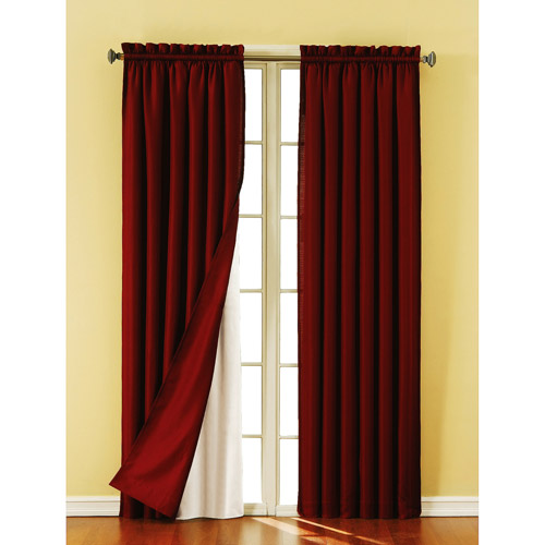 Eclipse Blackout Thermaliner Curtain Panels Set of 2  Walmartcom
