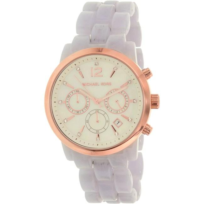 Michael Kors Women's Audrina MK6312 Lavender Plastic Quartz Fashion Watch
