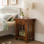 Leick Home 1 Drawer Mission Night Stand With Slat Sides Walmart Com