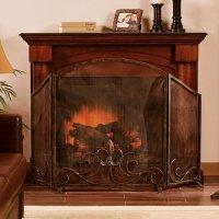 Fleur de Lis Fireplace Screen - Walmart.com