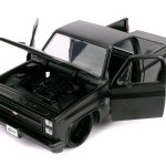 1985 Chevrolet Silverado C 10 Pickup Truck Matt Black With Black Wheels Just Trucks 1 24 Diecast Model Car By Jada Walmart Com Walmart Com