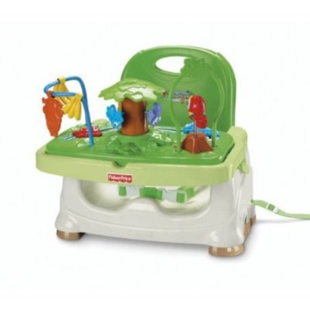 fisher price rainforest healthy care high chair 2 racing office booster seat walmart com