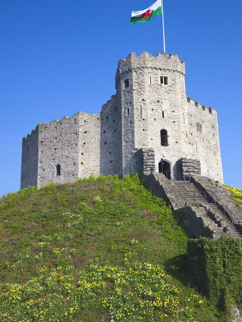 Norman Keep Cardiff Castle Cardiff South Wales Wales