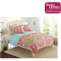 Better Homes and Gardens Jeweled Damask Bedding Quilt ...