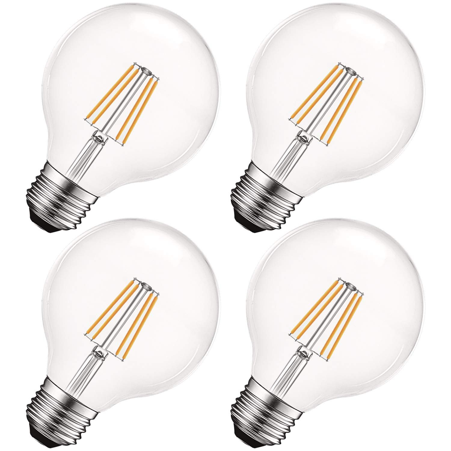 Luxrite Vintage G25 Led Globe Light Bulbs 60w Equivalent