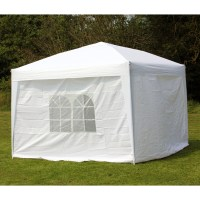 10 x 10 PALM SPRINGS EZ POP UP WHITE CANOPY GAZEBO TENT ...
