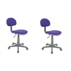 Purple Task Chair Danish Mid Century Calico Designs Deluxe Padded Adjustable Height Desk 2 Pack