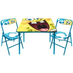 Activity Table And Chair Set Unfinished Wood Kitchen Chairs Nickelodeon Spongebob Walmart Com