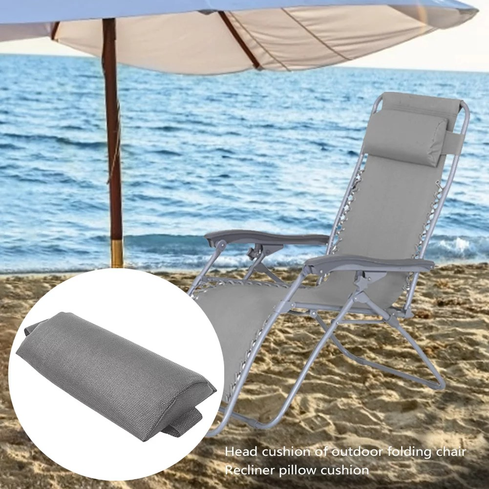 head cushion height adjustable comfortable recliner pillow pad for outdoor folding chairs