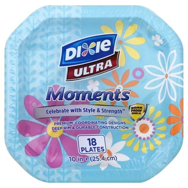 Dixie Ultra Moments Paper Plates 10quot 18 count Walmartcom