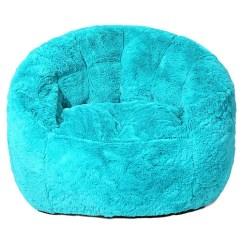 Teal Bean Bag Chair Seafoam Green Faux Fur Walmart Com
