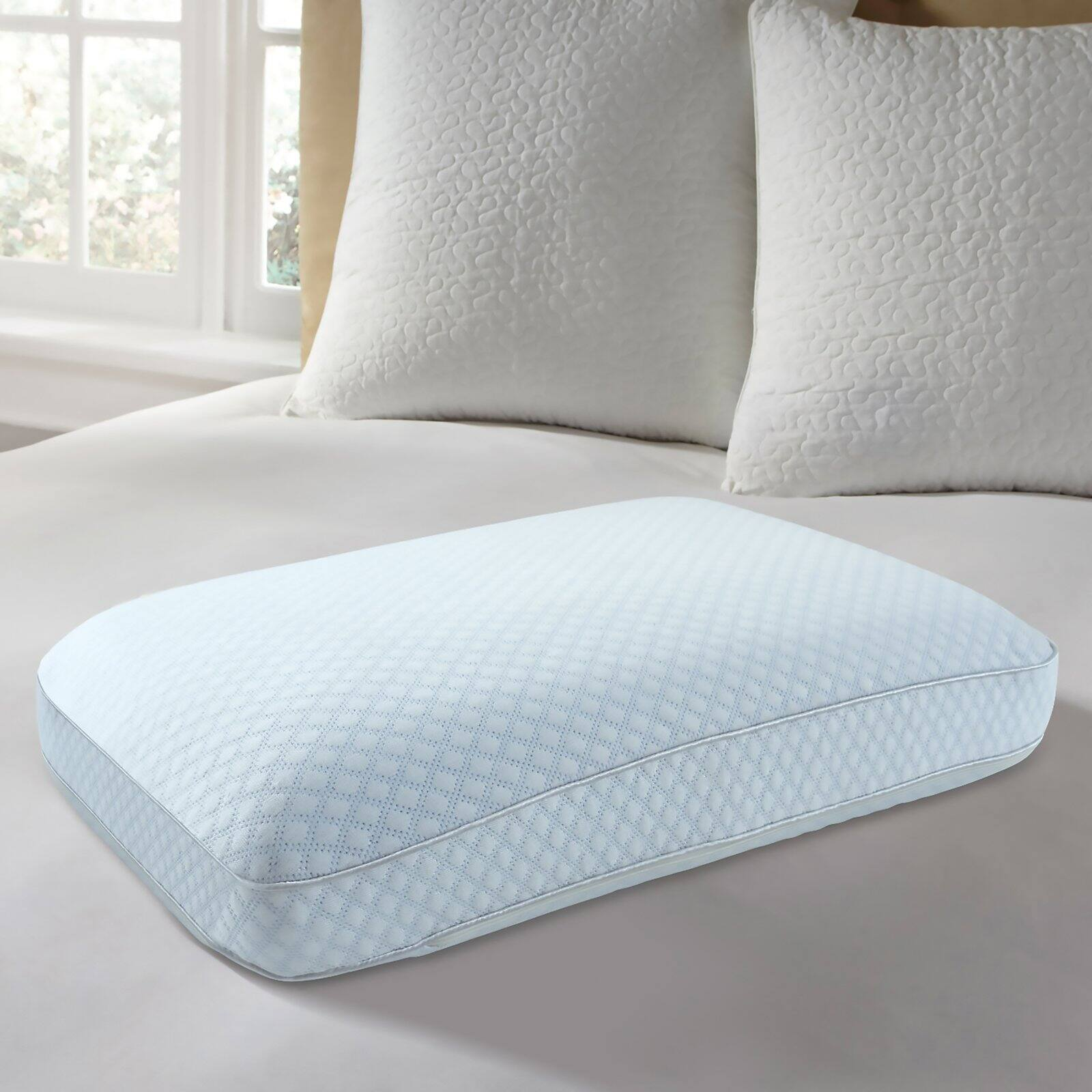 dream serenity cooling cover ventilated gel memory foam pillow queen