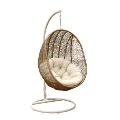 Outdoor Wicker Swing Chair Crochet Arm Covers Pattern Devon Claire Brooklyn Light Brown