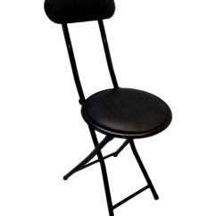 Portable Folding Chairs Cheap Small Table And For Kitchen Black Chair Padded With Lock Mechanism Easy Storage Stackable 2 Walmart Com