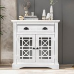 Bathroom Storage Cabinet Rustic Kitchen Storage Cabinet With Doors And Drawers Sideboard Buffet Cabinet Free Standing Cupboard Chest Console Table For Living Room Entryway Vintage White W14863 Walmart Com Walmart Com