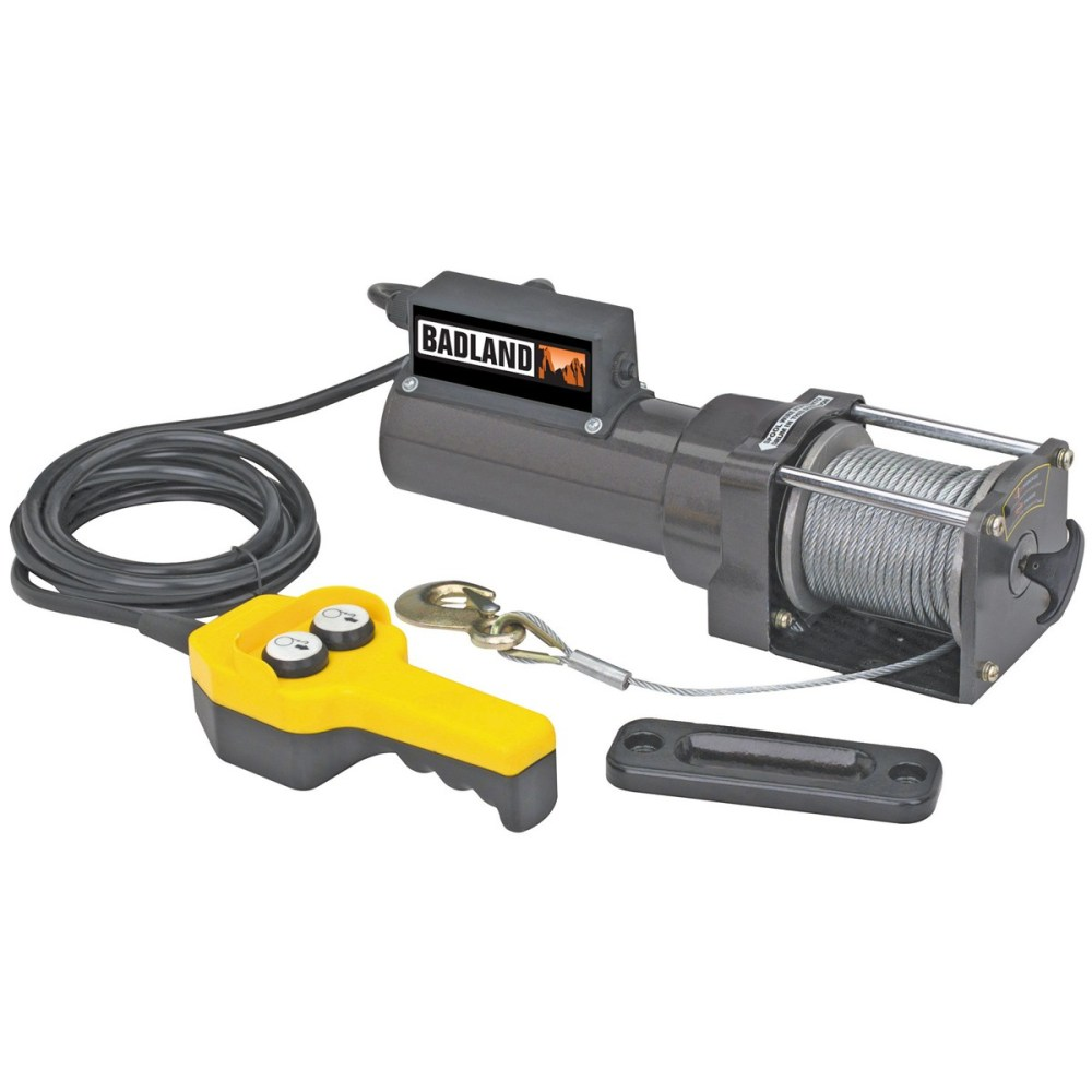 medium resolution of badland electric winch 1500 lb capacity 120 volt ac hoist control 96127 walmart com