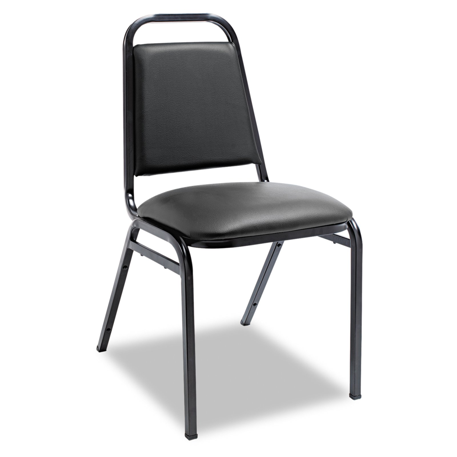 upholstered stacking chairs heavy duty chair casters alera w square back black vinyl frame