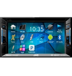 jvc kwv140bt 6 2 touch screen car cd dvd usb bluetooth stereo receiver bundle combo with kenwood rearview wide angle view backup camera enrock 22 am fm  [ 1600 x 1600 Pixel ]