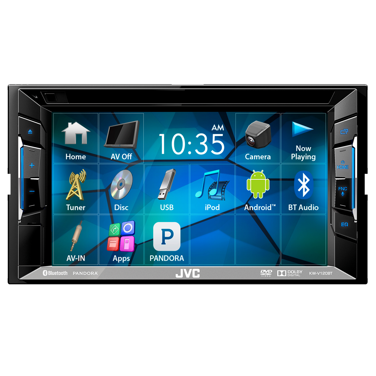 hight resolution of jvc kwv140bt 6 2 touch screen car cd dvd usb bluetooth stereo receiver bundle combo with kenwood rearview wide angle view backup camera enrock 22 am fm