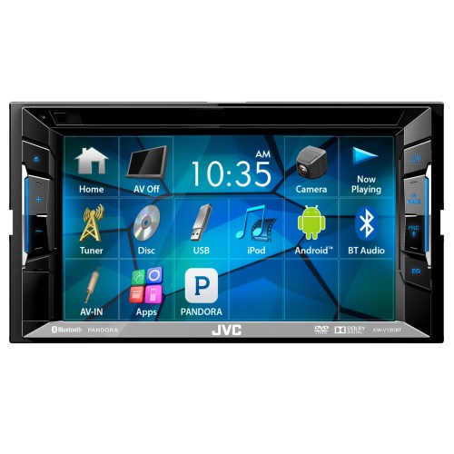 small resolution of jvc kwv140bt 6 2 touch screen car cd dvd usb bluetooth stereo receiver bundle combo with kenwood rearview wide angle view backup camera enrock 22 am fm