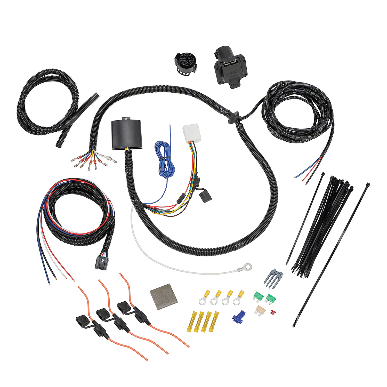 hight resolution of tekonsha 22119 trailer wiring connector wiring harness 7 way and plug and play for brake control