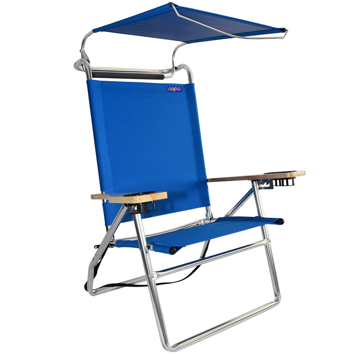 Beach Chairs Walmart Deluxe 4 Position Aluminum High Beach Chair With Canopy
