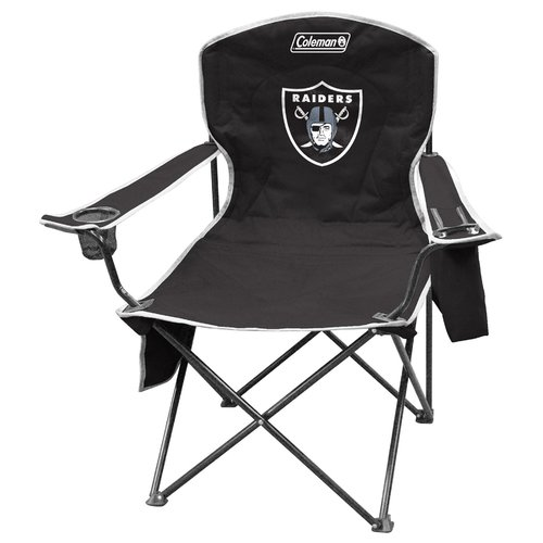 best folding quad chair elementary school chairs coleman with 4 to 6 can cooler oakland raiders walmart com