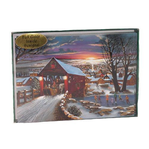 Covered Bridge Christmas Cards