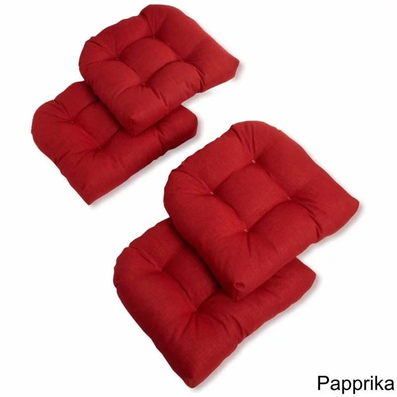 blazing needles u shaped patio chair cushion set of 4 azul