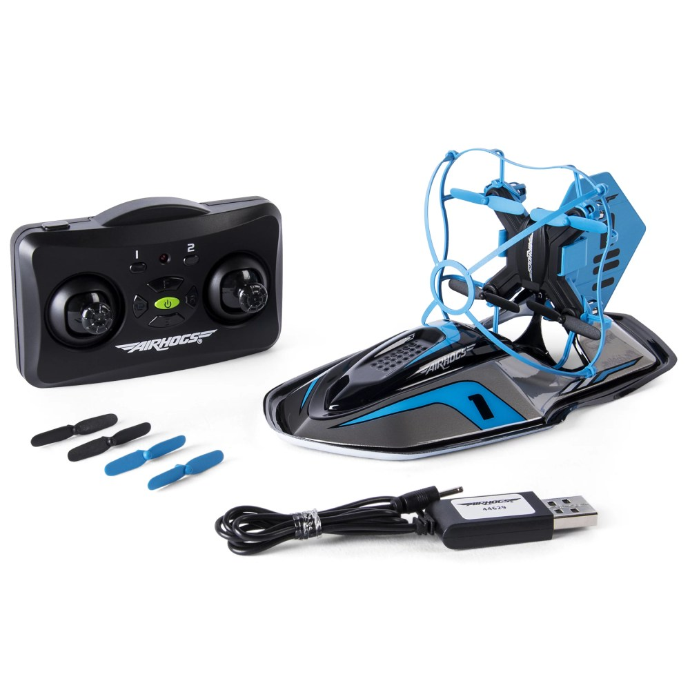 medium resolution of air hogs 2 in 1 hyper drift drone for kids capable of high speed racing and flying blue