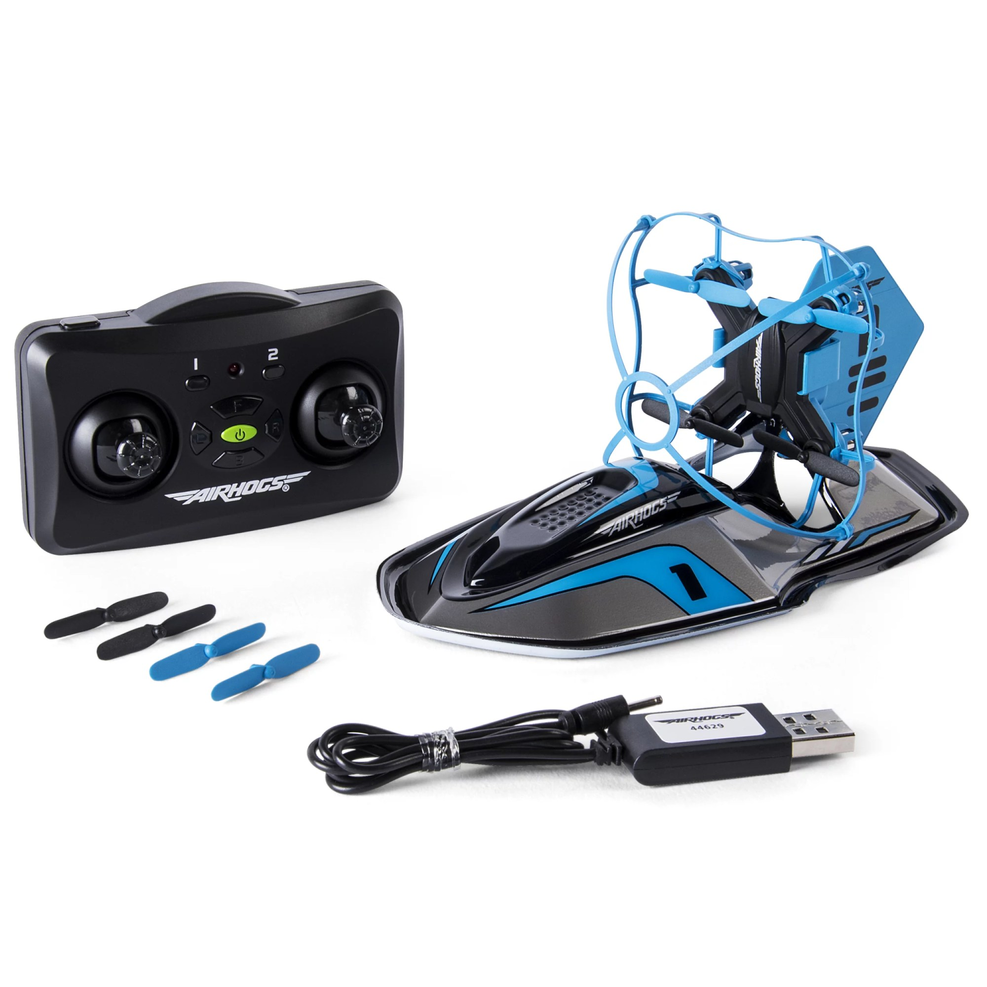 hight resolution of air hogs 2 in 1 hyper drift drone for kids capable of high speed racing and flying blue