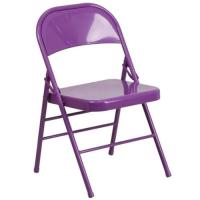 Flash Furniture Hercules Colorburst Metal Folding Chair in ...