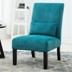 Colorful Accent Chair Wood Rocking Parts Roundhill Pisano Fabric Armless Contemporary With Kidney Pillow Multiple Colors Available Walmart Com