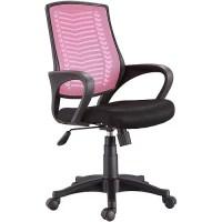 Techni Mobili Sierra Mesh-Back Desk Chair, Black/Pink ...