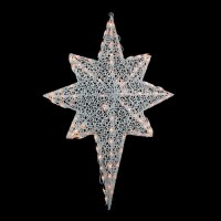 Northlight Seasonal Glittering Mesh 2-D Star of Bethlehem ...